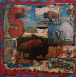 Bison Series - Mixed Media Paintings by artist Dave Newman