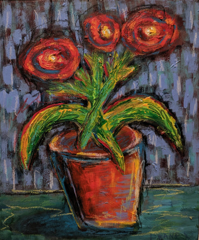 Flower Pot - Acrylic Paintings by artist Frank Discussion