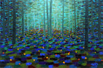 Fireflies XIII - Oil Paintings by artist Kathleen Eaton
