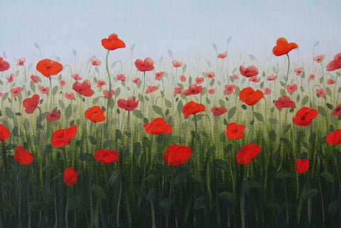 Poppies III - Oil Paintings by artist Kathleen Eaton