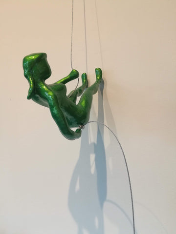 Climber 18 O -  Sculpture by artist Ancizar Marin