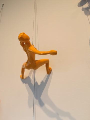 Climber 14-a -  Sculpture by artist Ancizar Marin