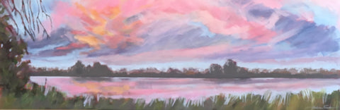 Cielo Rosa (Pink Sky) - Acrylic Paintings by artist Shalece Fiack