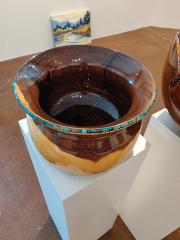 Teal Bowl -  Sculpture by artist Corey Valichnac