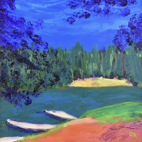 River - acrylic on canvas Paintings by artist Donald Ryker-Artist