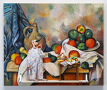 Curtain, Jug and Fruit, 1894 (Cezanne) - Acrylic/Paper Mache' Paintings by artist Stephen Hansen