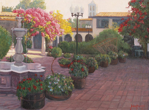 Evening on the Plaza - Oil Paintings by artist John Horejs