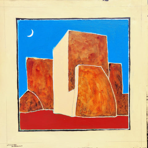 Rancho De Taos - Mixed Media Paintings by artist Michael Swearngin