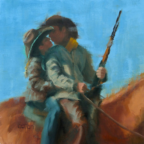 Careful With That Weapon Cowboy - Oil Paintings by artist Kathleen Eaton