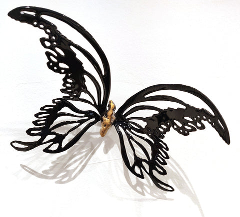 Flutter #1 - Vitreous Enamel on Steel Sculpture by artist Christie Hackler