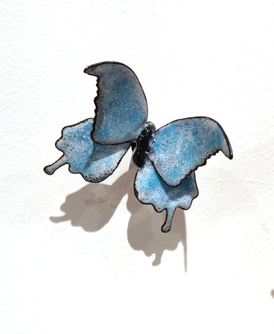 Flutter #5 - Vitreous Enamel on Steel Sculpture by artist Christie Hackler