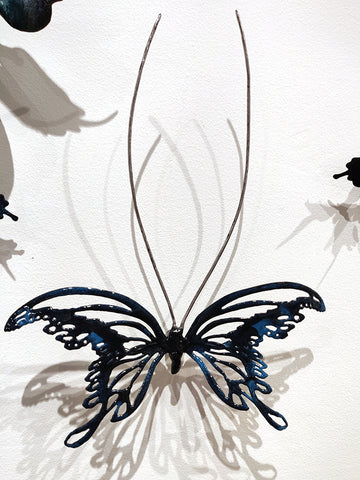 Flutter #11 - Vitreous Enamel on Steel Sculpture by artist Christie Hackler