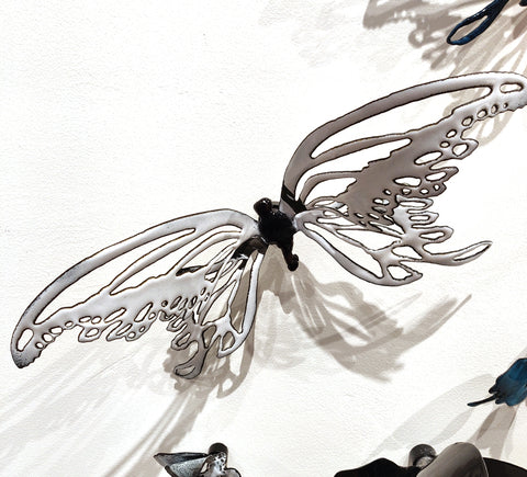 Flutter #13 - Vitreous Enamel on Steel Sculpture by artist Christie Hackler