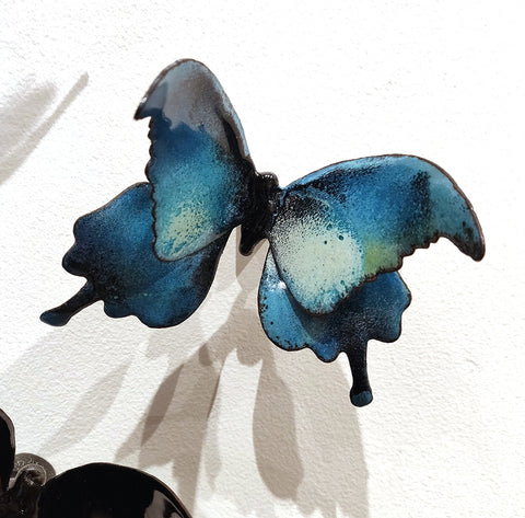 Flutter #14 - Vitreous Enamel on Steel Sculpture by artist Christie Hackler