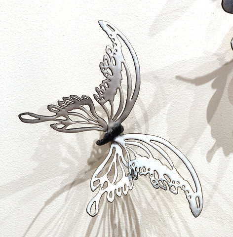 Flutter #18 - Vitreous Enamel on Steel Sculpture by artist Christie Hackler
