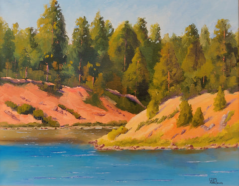 Fool Hollow Lake - Oil Paintings by artist Mark White