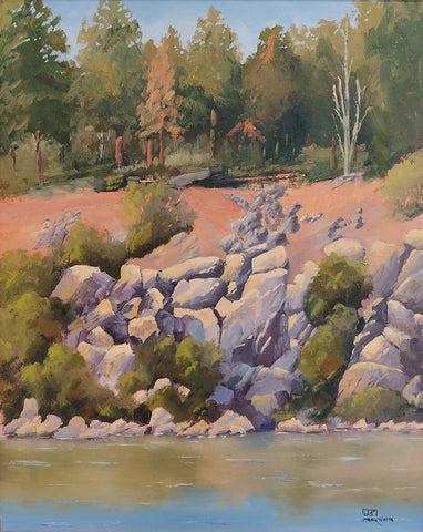 Fool Hollow Lake II - Oil Paintings by artist Mark White