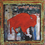 Urban Buffalo - Mixed Media Collage by artist Dave Newman