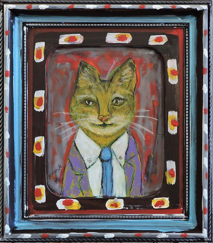 Fox Cat - Acrylic Paintings by artist Frank Discussion