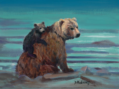 Mom and Baby Bear -  Giclee by artist Diana Madaras