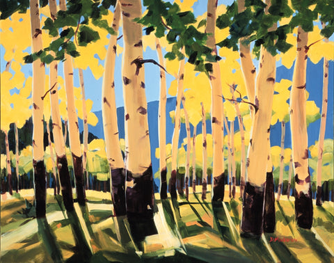 Arizona Aspens -  Giclee by artist Diana Madaras