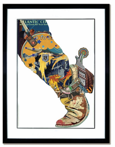 Boot and Spur - Handcrafted Collage Edition Collage by artist Leonardo Studios