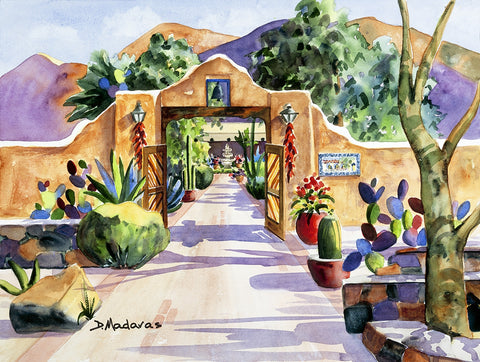 Hacienda Gate - Giclee on canvas Giclee by artist Diana Madaras