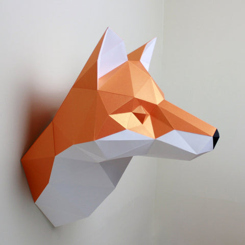 Cecilia the Fox - Paper Sculpture Kit Sculpture by artist Resident Design