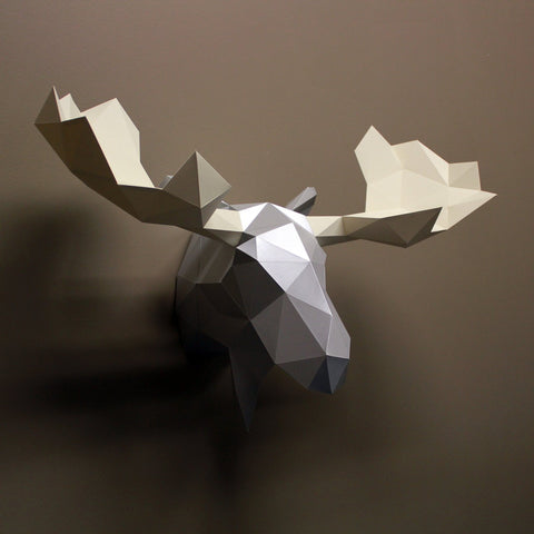 Leonard the Moose - Paper Sculpture Kit Sculpture by artist Resident Design