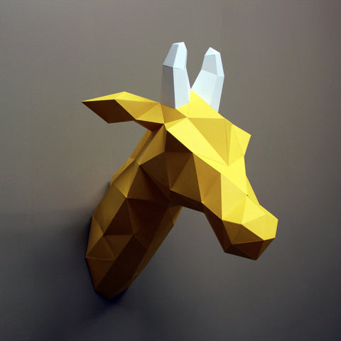 Louise the Giraffe - Paper Sculpture Kit Sculpture by artist Resident Design