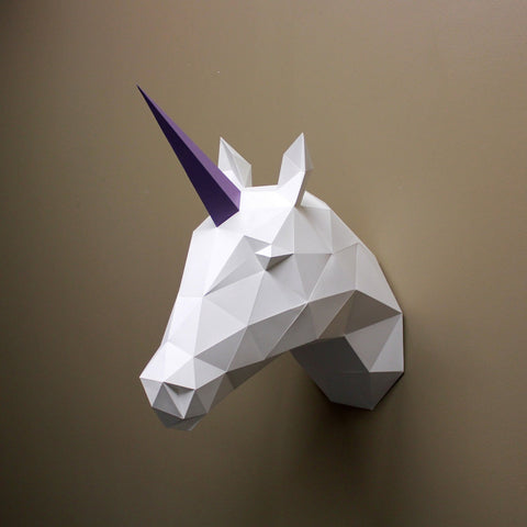 Vera the Unicorn - Paper Sculpture Kit Sculpture by artist Resident Design