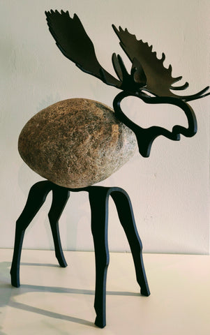 Montie Moose -  Sculpture by artist Charles Adams and Thomas Widhalm