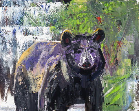 Bear in the Woods - Acrylic Paintings by artist Diana Madaras