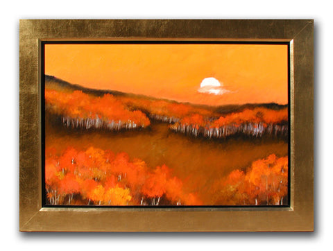 Sunset Forest - Oil Paintings by artist Melinda Fellini
