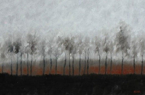 Winterscape I - Oil Paintings by artist Melinda Fellini