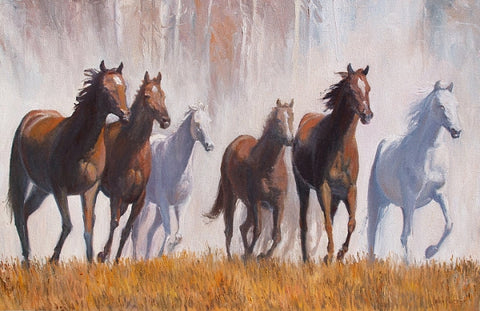 Dusty Run - Oil Paintings by artist John Horejs
