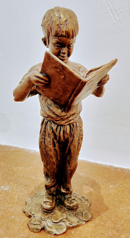 Bookworm - Bronze Sculpture by artist Gary Lee Price