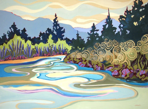Bend in the River - Acrylic Paintings by artist Carolee Clark