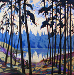 Dark Trees - Acrylic Paintings by artist Carolee Clark
