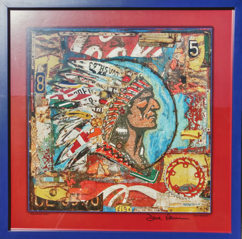 "Dave Newman - ""Framed Chief Poster"""