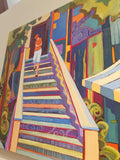 "Carolee Clark - ""Coffee Shop Stairs"""