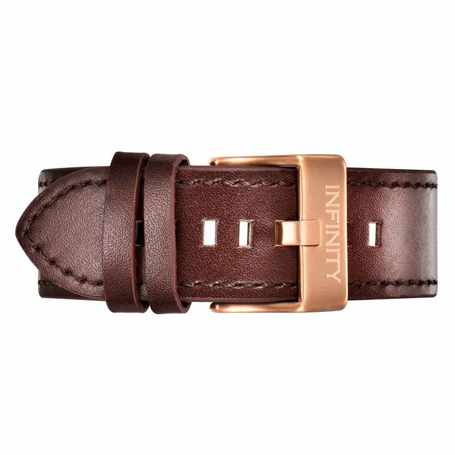 BROWN LEATHER +RG BUCKLE