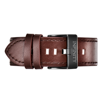 BROWN LEATHER + BLACK BUCKLE