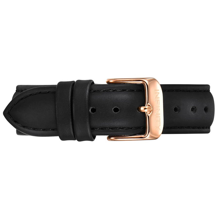 BLACK LEATHER +RG BUCKLE