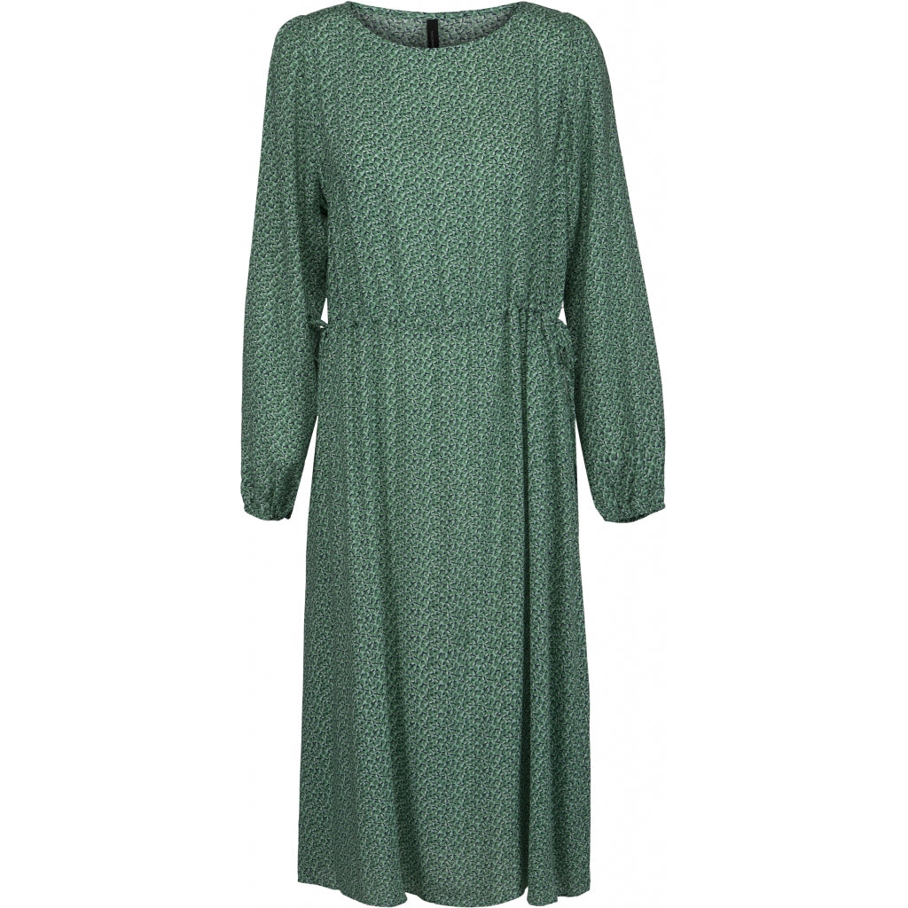 Peppercorn Peggy Boatneck Dress Kjoler 3017P GREEN OPAL PRINT