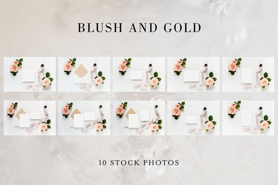 Blush & Gold - mockups photos