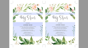 Printable Baby Shower Invitation Template, Floral, Greenery, Baby Shower invite, Gender Neutral, Invitation, Baby Shower Invites,Invite #WB2