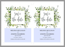 Load image into Gallery viewer, Printable Save-the-Date Template, Engagement Invite, PDF Instant Download, Greenery, Wedding Announcement - Melissa