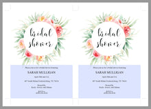 Load image into Gallery viewer, Blush Floral Bridal Shower Invitation Instant Download Printable Editable Template DIY Bridal Shower Invite - Sarah