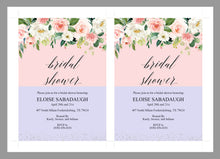 Load image into Gallery viewer, Bridal Shower Invitation Instant Download Printable Editable Template DIY Bridal Shower Invite Blush Floral  - Eloise